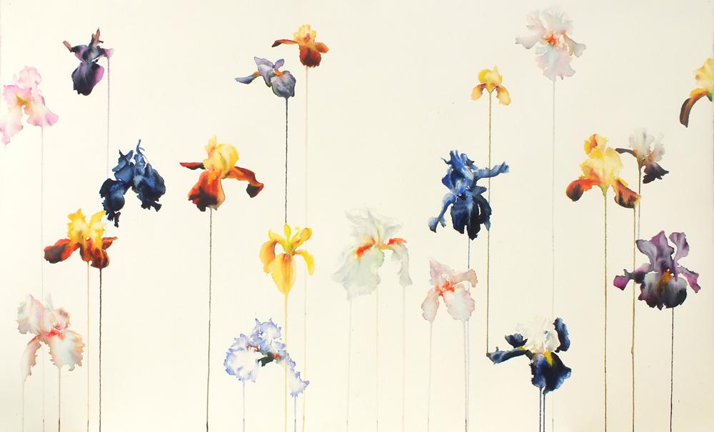 aquarelle sur papier 65/110 cm 680 euros