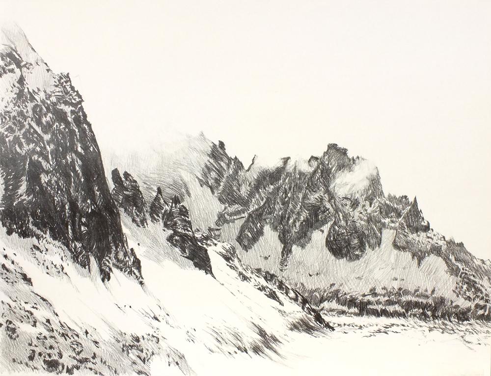 graphite sur papier   50x60 cm