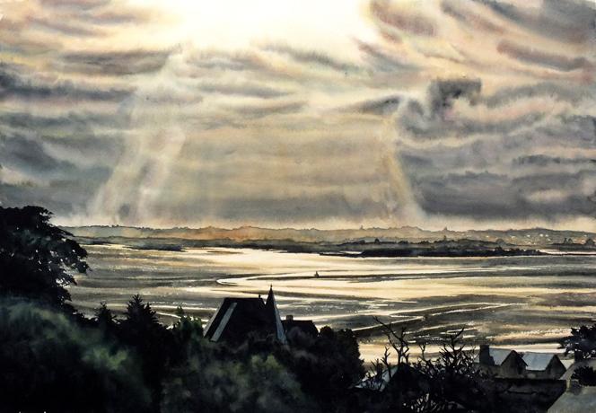 aquarelle sur papier 38x55cm   340 euros